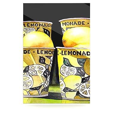 KESS InHouse Lemonade by Rosie Brown Graphic Art Plaque