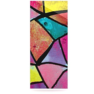 KESS InHouse Stain Glass 3 by Theresa Giolzetti Graphic Art Plaque