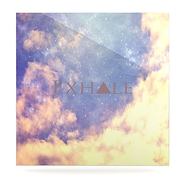 KESS InHouse Exhale by Rachel Burbee Graphic Art Plaque; 10'' H x 10'' W