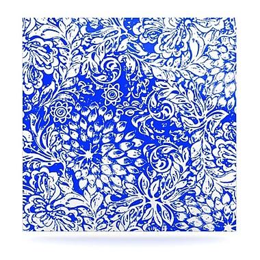 KESS InHouse Bloom Blue for You by Vikki Salmela Graphic Art Plaque; 8'' H x 8'' W
