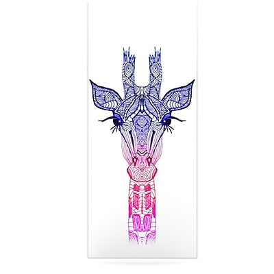 KESS InHouse Rainbow by Monika Strigel Giraffe Graphic Art Plaque; 21'' H x 9'' W