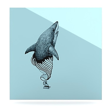 KESS InHouse Shark Record II by Graham Curran Graphic Art Plaque; 10'' H x 10'' W