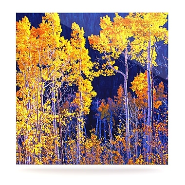 KESS InHouse Aspen Trees by Maynard Logan Photographic Print Plaque; 10'' H x 10'' W