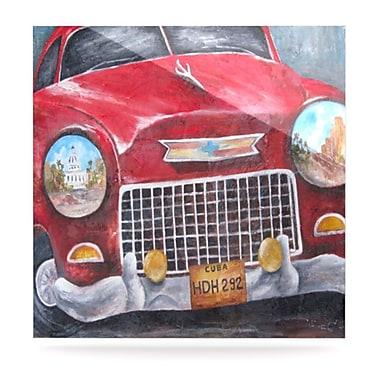 KESS InHouse Vintage in Cuba by Rosie Brown Painting PrintPlaque; 8'' H x 8'' W