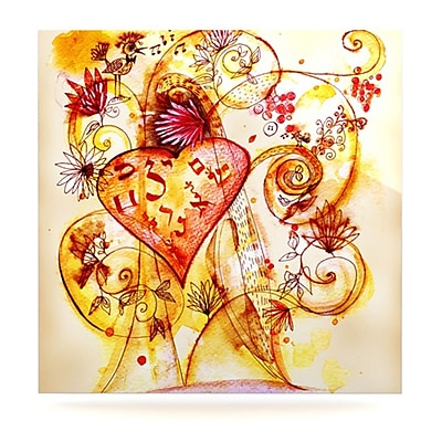 KESS InHouse Tree of Love by Marianna Tankelevich Painting Print Plaque; 10'' H x 10'' W