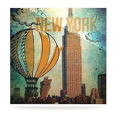 KESS InHouse New York by iRuz33 Vintage Advertisement Plaque; 10'' H x 10'' W