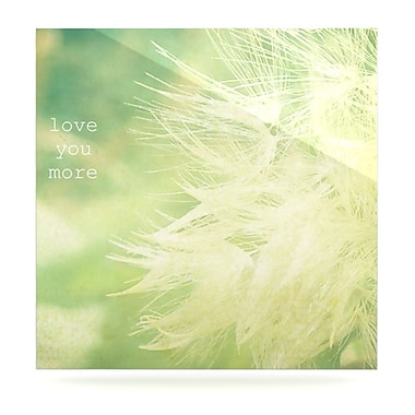 KESS InHouse Love You More by Robin Dickinson Photographic Print Plaque; 8'' H x 8'' W