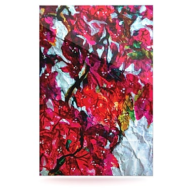 KESS InHouse Bougainvillea by Mary Bateman Painting Print Plaque