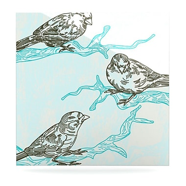 KESS InHouse Birds in Trees by Sam Posnick Graphic Art Plaque; 10'' H x 10'' W