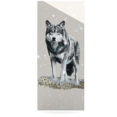 KESS InHouse Wolf by Monika Strigel Graphic Art Plaque; 20'' H x 16'' W