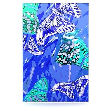 KESS InHouse Butterflies Party by Vikki Salmela Graphic Art Plaque; Blue