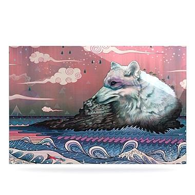 KESS InHouse Lone Wolf by Mat Miller Graphic Art Plaque