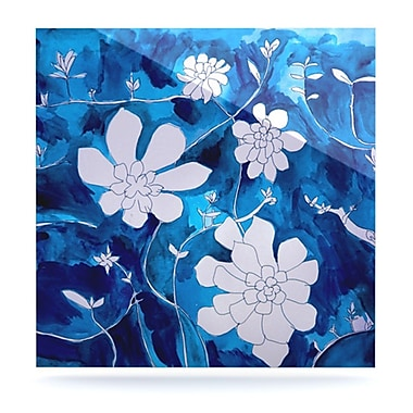 KESS InHouse Succulent Dance 1 by Theresa Giolzetti Painting Print Plaque; 8'' H x 8'' W
