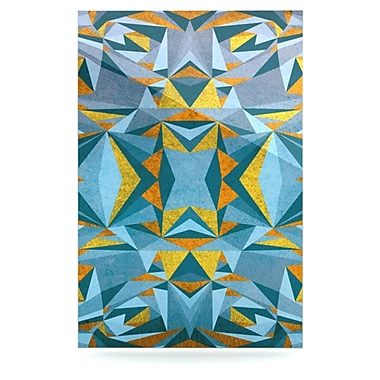 KESS InHouse Abstraction by Nika Martinez Graphic Art Plaque; Blue and Gold