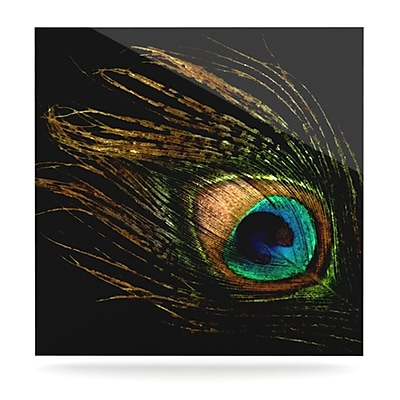 KESS InHouse Peacock by Alison Coxon Graphic Art Plaque; 10'' H x 10'' W
