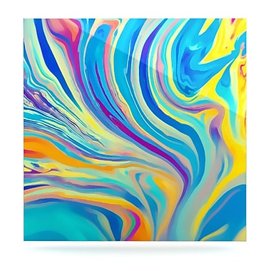 KESS InHouse Rainbow Swirl by Ingrid Beddoes Graphic Art Plaque; 10'' H x 10'' W