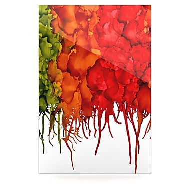 KESS InHouse Fall Splatter by Claire Day Graphic Art Plaque; 36'' H x 24'' W