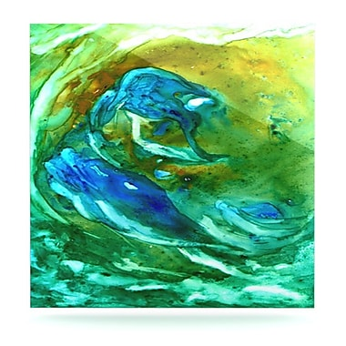 KESS InHouse Hurricaneby Rosie Brown Painting Print Plaque; 10'' H x 10'' W