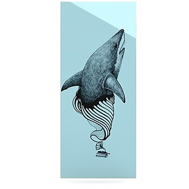 KESS InHouse Shark Record II by Graham Curran Graphic Art Plaque; 21'' H x 9'' W