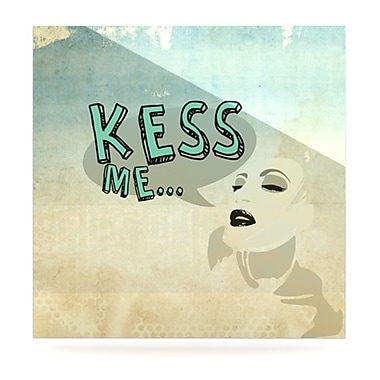KESS InHouse Kess Me by iRuz33 Graphic Art Plaque; 8'' H x 8'' W