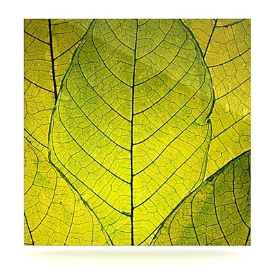 KESS InHouse Every Leaf a Flower by Robin Dickinson Photographic Print Plaque; 8'' H x 8'' W