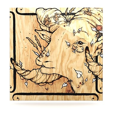KESS InHouse Ram by Jennie Penny Graphic Art Plaque; 10'' H x 10'' W