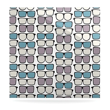 KESS InHouse Spectacles Geek Chic by Michelle Drew Graphic Art Plaque; 10'' H x 10'' W