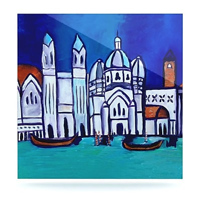 KESS InHouse Venice by Theresa Giolzetti Painting Print Plaque; 8'' H x 8'' W