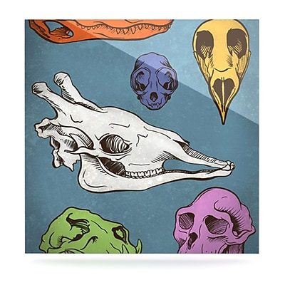 KESS InHouse Skulls by Sophy Tuttle Graphic Art Plaque; 10'' H x 10'' W