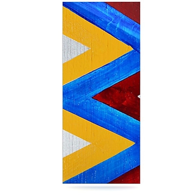 KESS InHouse Zig Zag by Brittany Guarino Graphic Art Plaque; 21'' H x 9'' W