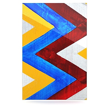 KESS InHouse Zig Zag by Brittany Guarino Graphic Art Plaque; 36'' H x 24'' W