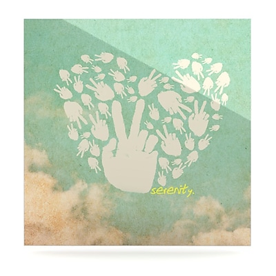 KESS InHouse Serenity by Painting Print Plaque; 8'' H x 8'' W