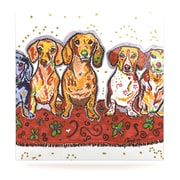 KESS InHouse Maksim Murray Enzo Ruby & Willy by Rebecca Fischer Painting Print Plaque; 8'' H x 8'' W