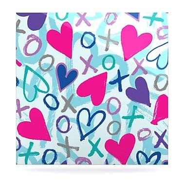 KESS InHouse Hearts A Flutter by Emine Ortega Graphic Art Plaque; 10'' H x 10'' W