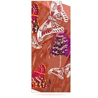 KESS InHouse Butterflies Party by Vikki Salmela Graphic Art Plaque; Orange