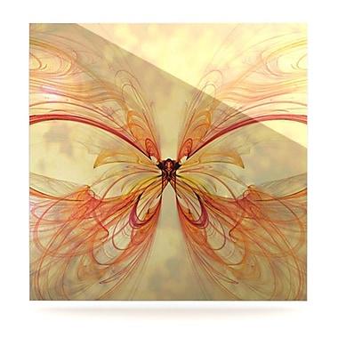 KESS InHouse Papillion by Alison Coxon Graphic Art Plaque; 8'' H x 8'' W