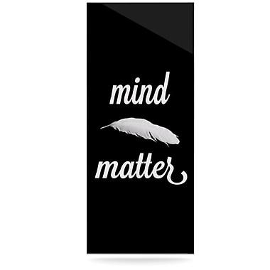 KESS InHouse Mind Over Matter by Skye Zambrana Graphic Art Plaque; 20'' H x 16'' W