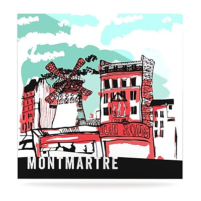 KESS InHouse Montmartre by Theresa Giolzetti Graphic Art Plaque; 8'' H x 8'' W