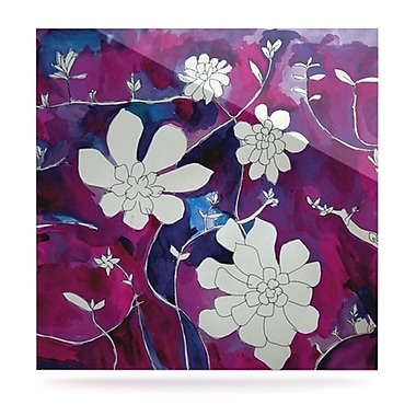 KESS InHouse Succulent Dance III by Theresa Giolzetti Painting Print Plaque; 8'' H x 8'' W