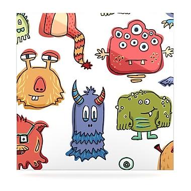 KESS InHouse Little Monsters by Brienne Jepkema Graphic Art Plaque; 8'' H x 8'' W