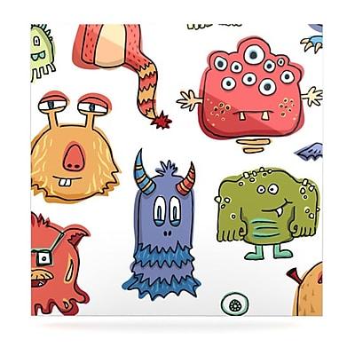 KESS InHouse Little Monsters by Brienne Jepkema Graphic Art Plaque; 10'' H x 10'' W