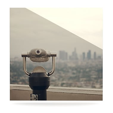 KESS InHouse The View LA by Catherine McDonald Photographic Print Plaque; 8'' H x 8'' W