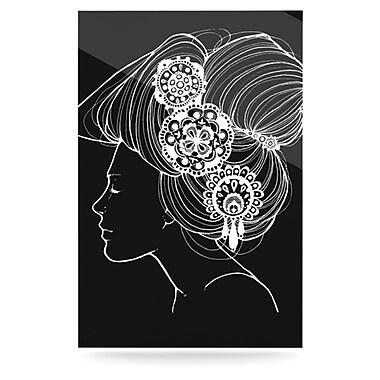 KESS InHouse Jennie Penny Graphic Art Plaque; Black
