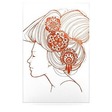 KESS InHouse Jennie Penny Graphic Art Plaque; White