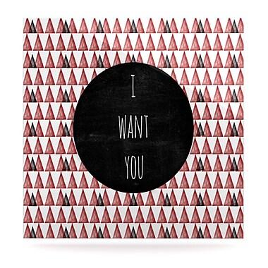 KESS InHouse I Want You by Skye Zambrana Graphic Art Plaque; 10'' H x 10'' W