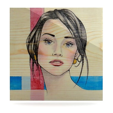 KESS InHouse Face by Brittany Guarino Painting Print Plaque; 8'' H x 8'' W