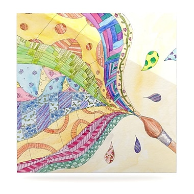 KESS InHouse The Painted Quilt by Catherine Holcombe Painting Print Plaque; 10'' H x 10'' W
