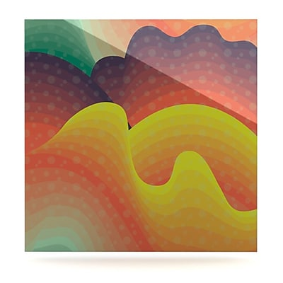 KESS InHouse Waves, Waves by Akwaflorell Graphic Art Plaque; 8'' H x 8'' W
