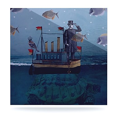 KESS InHouse The Voyage by Suzanne Carter Graphic Art Plaque; 8'' H x 8'' W