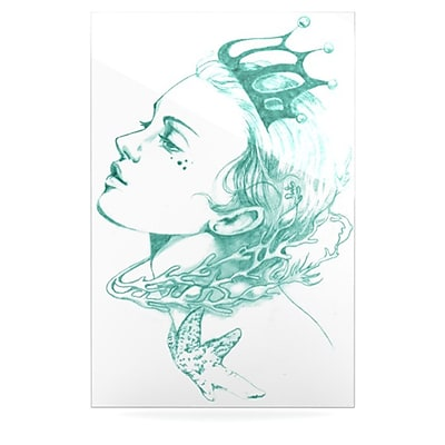 KESS InHouse Queen of the Sea by Lydia Martin Graphic Art Plaque; Green